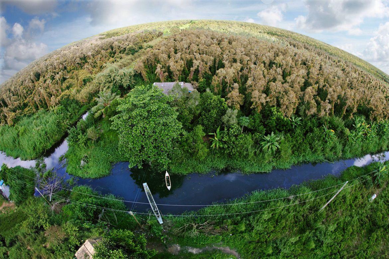 Hình ảnh khu Rừng U Minh hạ nhìn từ trên cao (Nguồn sưu tầm)