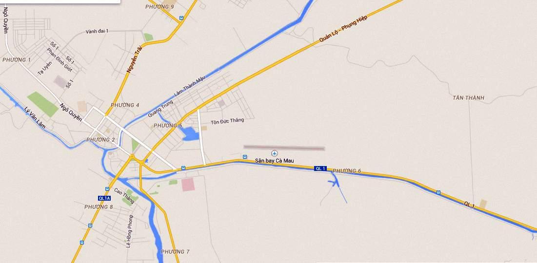 Sân bay Cà Mau ở đâu tại Cà Mau và thông tin về Sân bay Cà Mau 01