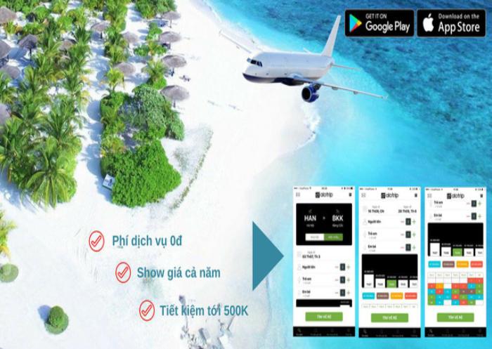 Ứng dụng Alo Trip - đơn giản, dễ sử dụng.