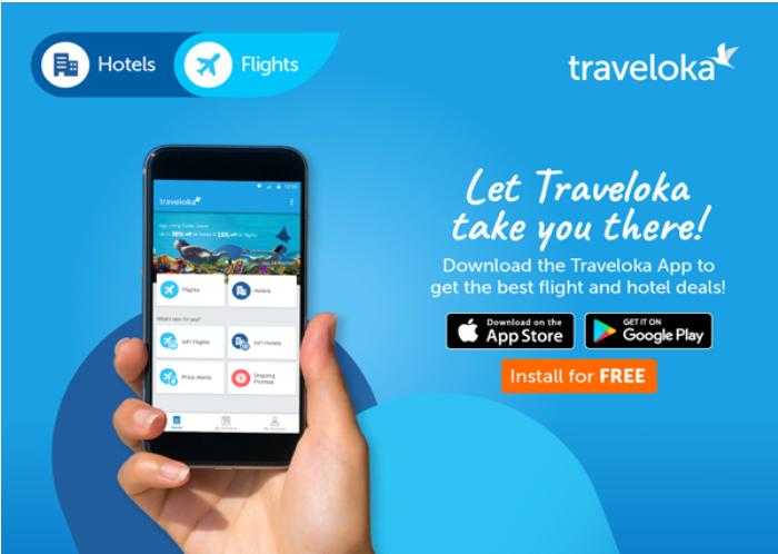 Ứng dụng đặt vé máy bay Traveloka