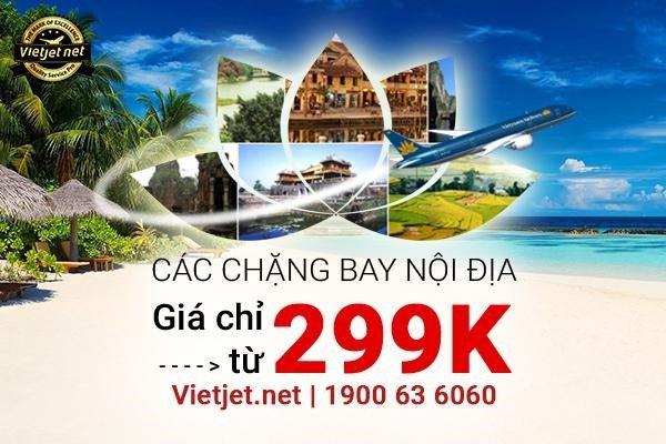 Vietnam Airlines khuyến mãi vé máy bay 299K