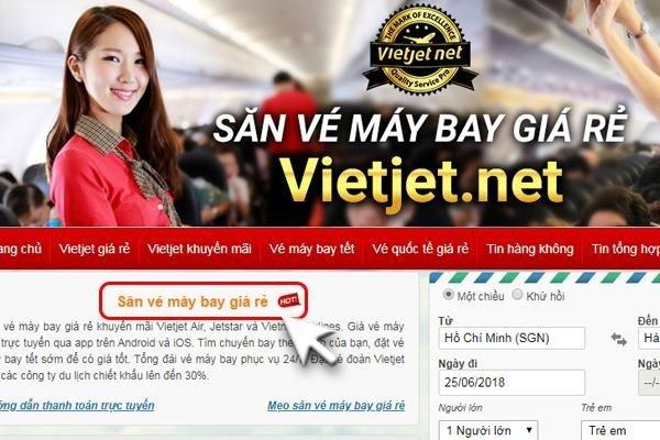 Săn vé máy bay giá rẻ Vietjet Vietnam Airlines và Bamboo