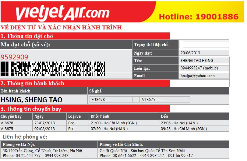 Hướng dẫn cách dùng vé máy bay điện tử